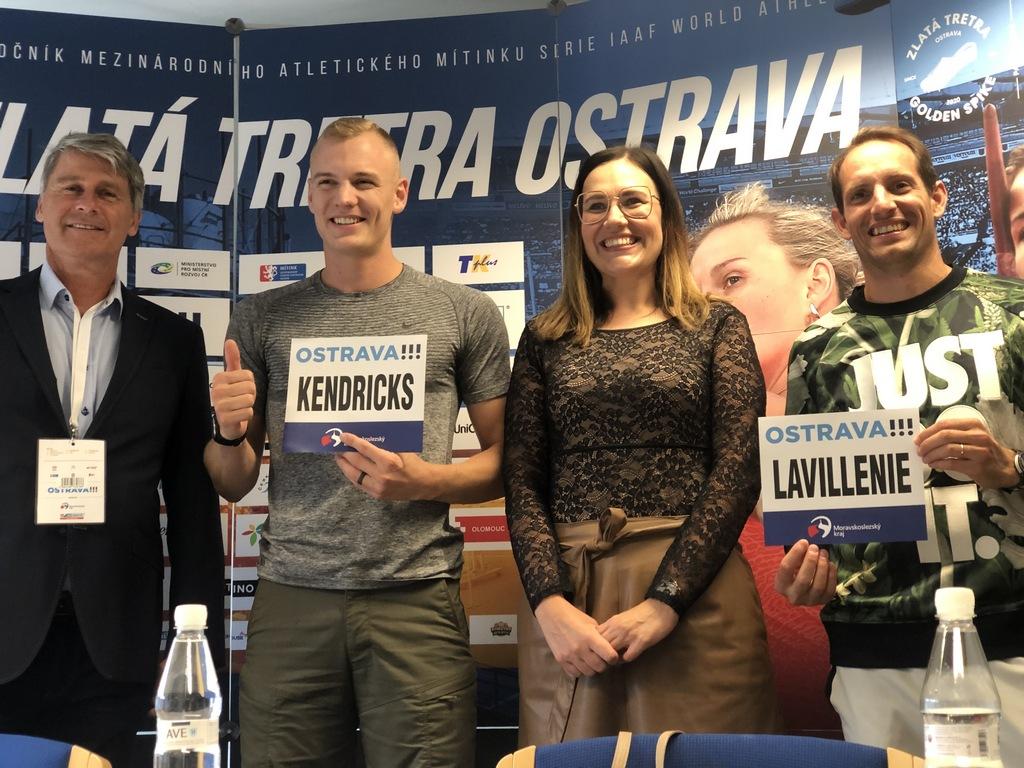 Sam Kendricks enjoyed the birthday gifts in Ostrava